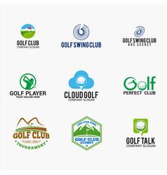 sports logo badges 6 vector image
