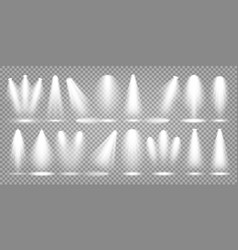 spotlight set bright light beam vector image
