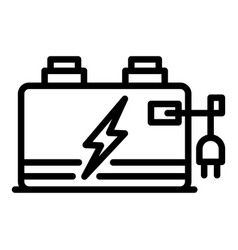Storage battery icon outline style vector
