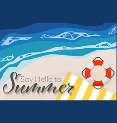 summer holiday banner background vector image