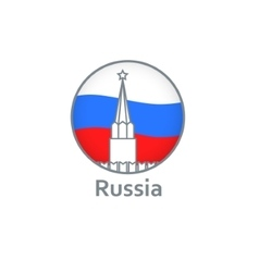 Symbols the flag and the Kremlin vector