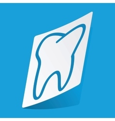 Tooth sticker vector