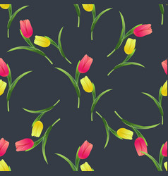 Tulips simless pattern card6 vector