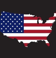 usa map on flag vector image