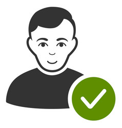 User valid icon vector