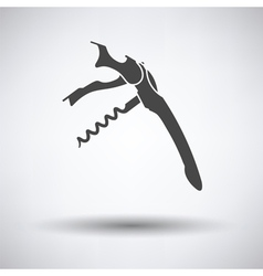 Waiter corkscrew icon vector image
