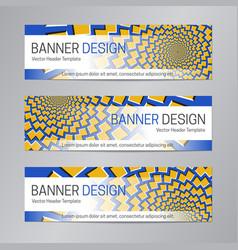 Web header design blue yellow banner template vector