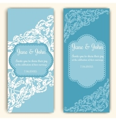 Wedding invitation cards template vector