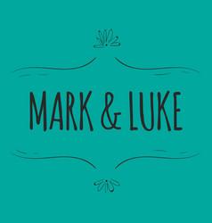 Wedding mark and luke image vector