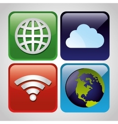 Wifi internet service vector