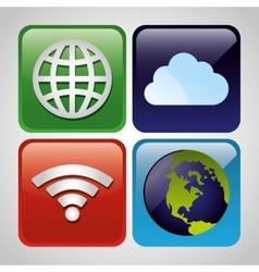 Wifi internet service vector