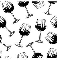 wine seamless pattern alcoholic drink vector image