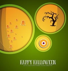 With halloween and eye vector