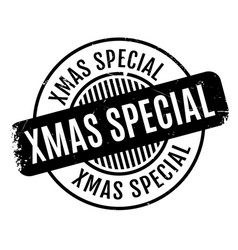 Xmas special rubber stamp vector