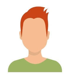 Young male profile avatar isolated on white vector image