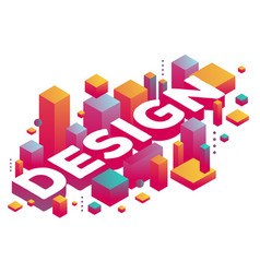 creative of three dimensional word design with vector image