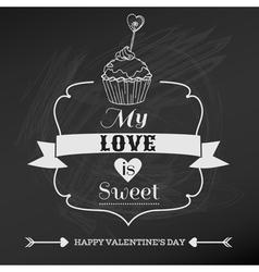 Vintage Valentines Day Card Design vector image vector image