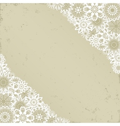 Christmas background in retro style vector image vector image