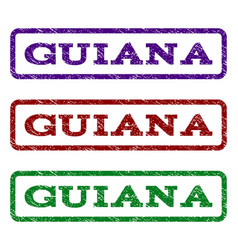guiana watermark stamp vector image vector image
