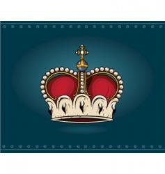 heraldic crown vector image