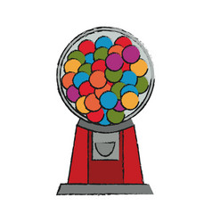 isolated candy machine design vector image