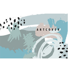 abstract artistic poster card cover vector image vector image