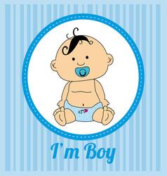 baby shower design over blue background vector image