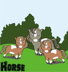 cartoon horse background vector image vector image