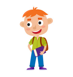 color of pretty red-haired boy vector image