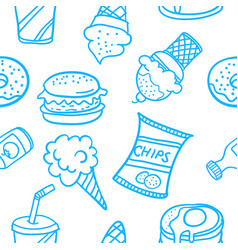 doodle of food various style design vector image vector image