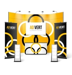 Exhibition Stand Black Yellow Design vector image vector image