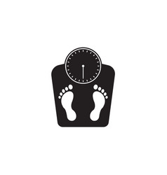 floor scales solid icon human footprints vector image