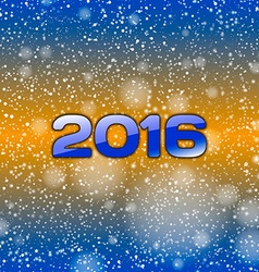 Blue Snow 2016 vector image vector image