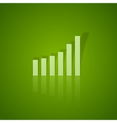 business graph up vector image