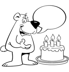 Cartoon bear with a speech balloon vector image vector image