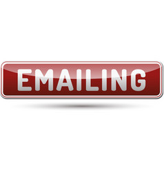 emailing button vector image vector image