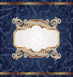 Golden retro emblem seamless floral texture vector image vector image