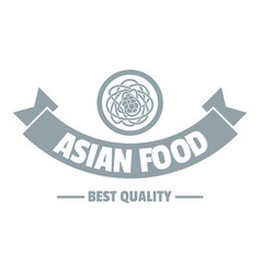 hot asian food logo simple gray style vector image