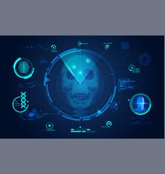 skull scan vector image vector image