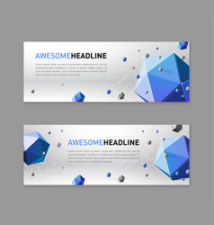 3d lowpoly abstract web slideshow template vector