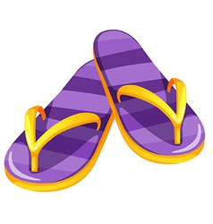 A pair of purple sandals vector