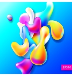 abstract bright colorful plasma drops shapes vector image