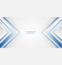 abstract geometric blue white and gray arrow vector image