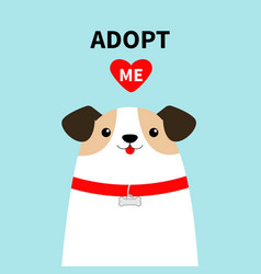 Adopt me dog face head white puppy pooch red vector