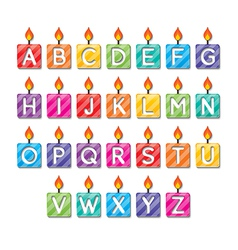 alphabet candles vector image