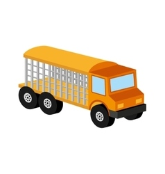 Animal transport truck icon graphic vector