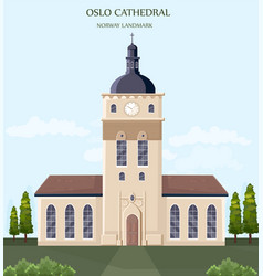 architecture facade oslo cathedral norway vector image