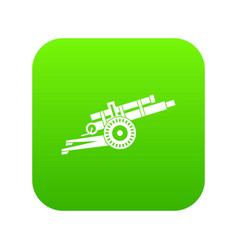Artillery gun icon digital green vector