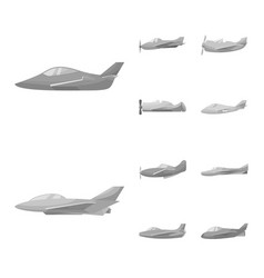 aviation and airline icon vector image