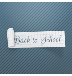 Back to School curved greeting Ribbon vector